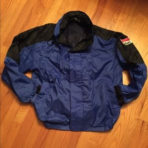 Vintage Blue Marlboro Windbreaker